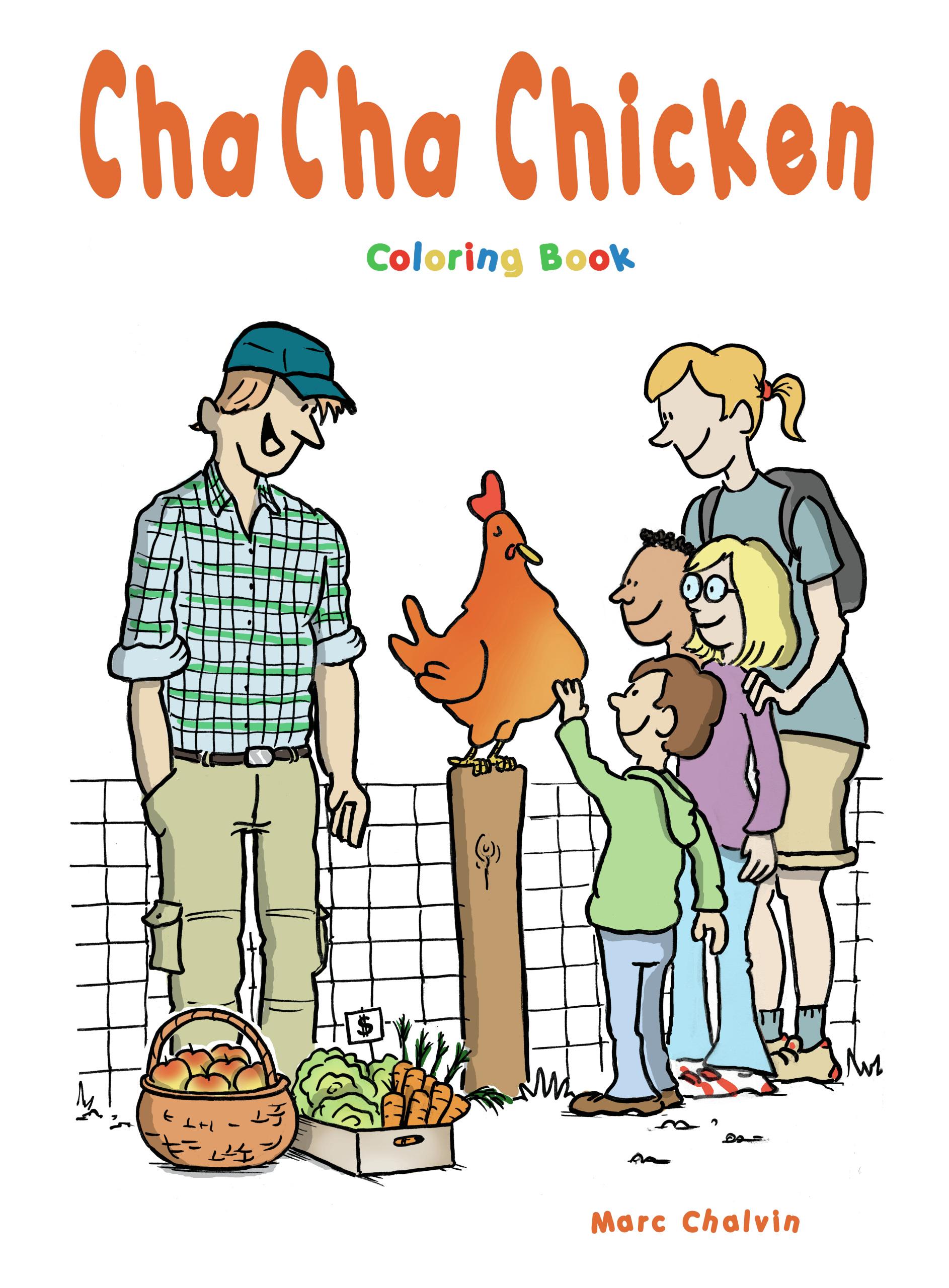 cha cha chicken coloring book